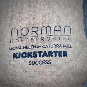 Kaffeesack leer bedruck Norman Kaffeeröster